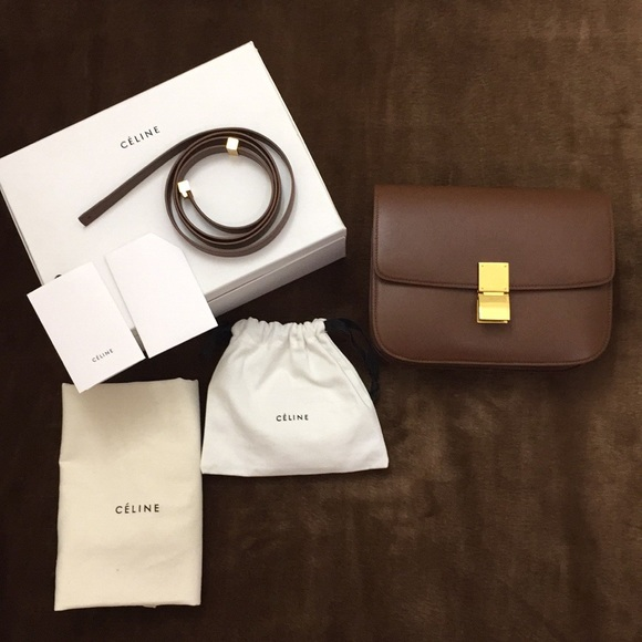 02b05b91e5 Celine Handbags - Authentic Brown CELINE Medium Box Bag